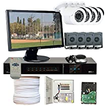 GW Security VD8CHH5 8-Channel HD-SDI DVR 1080P 4 x HD-SDI 1/3 Inches 2.1 Meg 3.6mm Lens 98-Feet IR and 4 x 1/2.8 Inches 2.2 Meg Starlight HD-SDI Camera (Colorful)