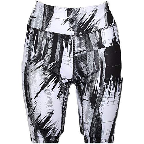 ASICS Womens Printed Capri Running Athletic Compression & Base Layer Leggings Black XL