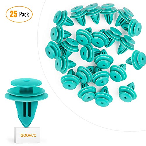 Panel Clip - GOOACC 25 Toyota Trim Door Panel Retainer Clips 90467-10188 Sienna Corolla Camry Tacoma Tundra Sequoia Matrix Prius RAV4 Scion Avalon Land Cruiser 9mm Hole - 25pcs
