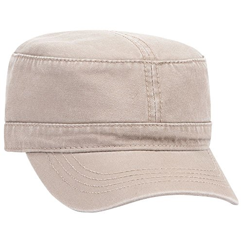 (OTTO Superior Garment Washed Cotton Twill Military Cap - Khaki)