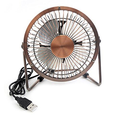 Small Travel Fan : Honeyall adjustable usb desk fan metal archaistic