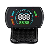 XYCING Car Head Up Display 5.8 inch Digital Speedometer Dashboard Car HUD OBD2 Windshield Projector Speed Fatigue Driving Reminder Alarm Functions