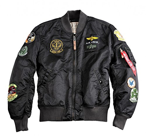 Alpha Industries Jacke MA-1 Pilot, Color:black overdyed;Größe:3XL