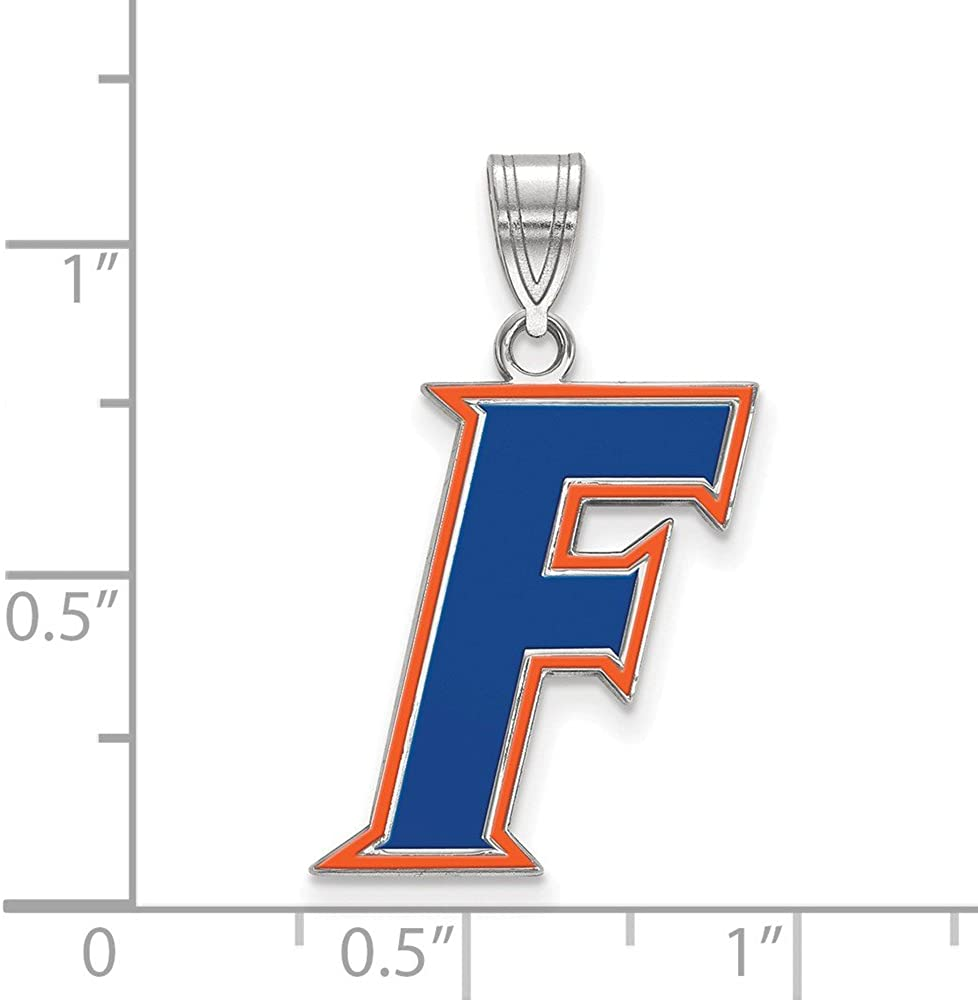 FB Jewels Sterling Silver LogoArt Florida State University Large Enamel Pendant