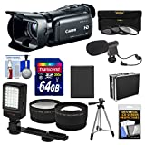 Canon Vixia HF G20 32GB Flash Memory 1080p HD Digital Video Camcorder with 64GB Card + Battery + Case + 3 Filters + Microphone + LED Light + Telephoto & Wide-Angle Lenses + Accessory Kit