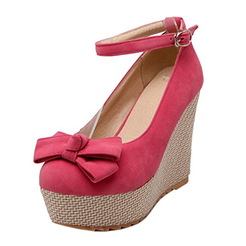 6295 Shoes Women's Wedges Court Pink Heel TAOFFEN FYfIBqI