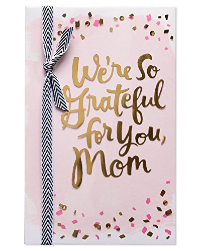 - American Greetings Happy Hearts Mother's Day Greeting Card with Ribbon and Foil