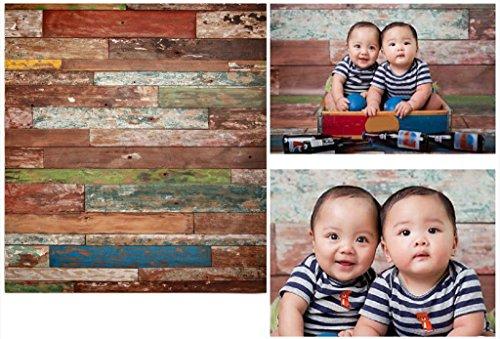 Laeacco 3x5ft Thin Vinyl Photography Backdrops Retro Wooden Wall Baby Newborn Birthday Kids Photo Background Studio Props 1x1.5meter