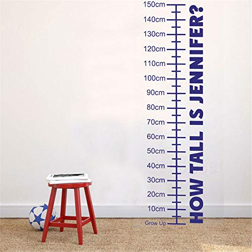 loneer Wall Stickers Art Decor Decals Measuring Height Ruler Customizable Name Boy Girl Room Home Decoration
