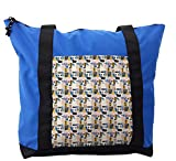 Lunarable Kids Shoulder Bag, Mosaic Inspired Cosy Houses, Durable with Zipper