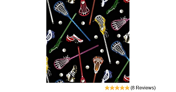 Amazon.com: Lacrosse Sports Cotton Fabric by Elizabeths Studio: Garden & Outdoor