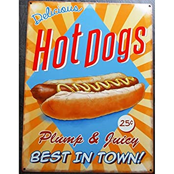 Amazon.de: hotrodspirit Hot Dog Pub Deco Bar Restaurant Küche Snack USA