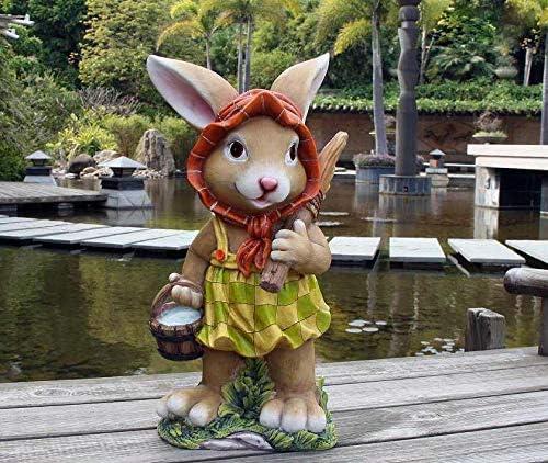 Diseño 2 Enano Conejo 91102-2 XXL 46 cm de alto Decoración Jardín Enano Jardín Figuras Decoración diseños diferentes: Amazon.es: Jardín