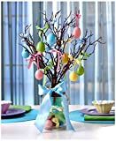 Lighted Mason Jar Easter Egg Tree Easter Egg Ornaments Table Holiday Home Decor