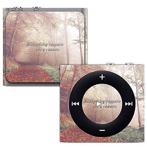 MightySkins Skin for Apple iPod Shuffle 4G - Happens for A Reason | Protective, Durable, and Unique Vinyl Decal wrap Cover | Easy to Apply, Remove, and Change Styles | Made in The USA (Case Silicone Shuffle Protective)