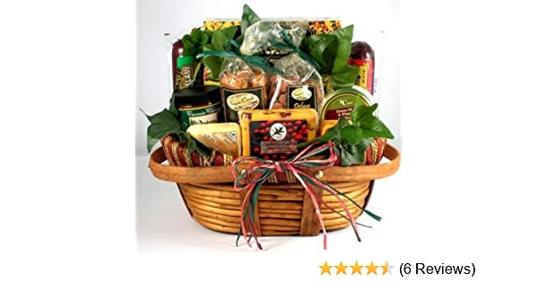 e7bfab815db6 Amazon.com   The Midwest s Best Deluxe Sausage and Cheese Gift Basket for  Men