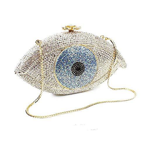 Bandoulière Mariage Pochette Sac Femme Chaîne pochette Crystal Mini À Main Eyed Strass Asdflina Soirée Bourse Big P4ZgUgq