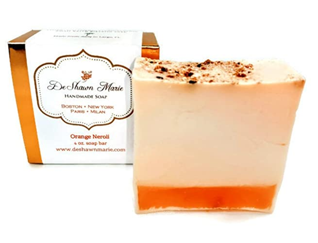 Orange Neroli Soap, 4oz Handmade Soap Bar, 100% Vegan, Cruelty Free,