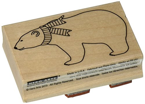 Hero Arts Polar Bear Wood Block Rubber Stamp Polar Bear Wood