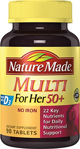 Nature Made Multi For Her 50+ Tablets w. D3 - 22 Essential Vitamins & Minerals 3 (50 Plus Formula Tablets)
