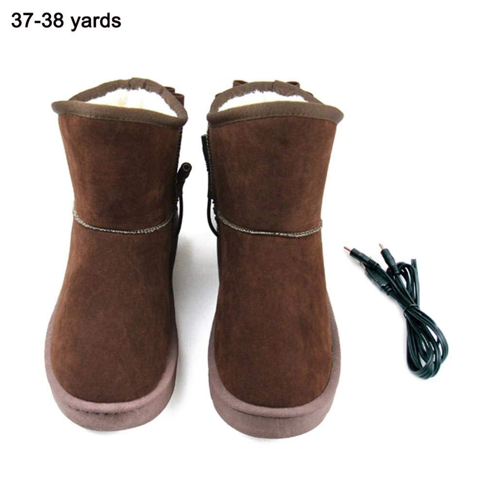 USB Recargables Zapatillas calefactoras c/ómodos Zapatos de Felpa para Mantener los pies Calientes. Cokeymove Botines calefactables calefactables