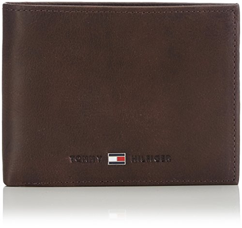 Tommy Hilfiger JOHNSON CC AND COIN POCKET AM0AM00659 Herren Geldbörsen 14x10x2 cm (B x H x T), Braun (Brown 041)