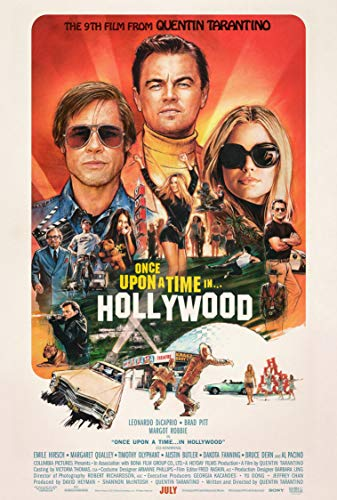 Once Upon A Time in Hollywood (The 9th Film from Quentin Tarantino) Poster Movie Promo (2019) 11 x 17 inches