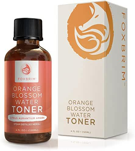Foxbrim Orange Blossom Water face toner - 100% Natural Face Toner, Alcohol-Free - Imported from Morocco - 120mL/4.oz