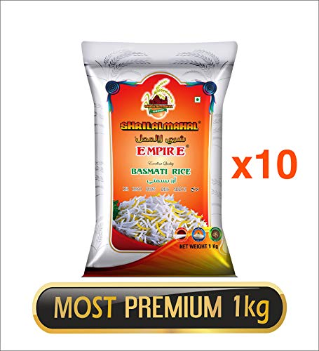 SHRILALMAHAL Empire Basmati Rice (Most Premium) (10 x 1 Kg)