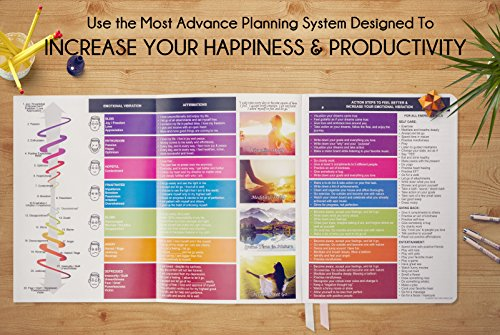 Law of Attraction Life Planner - Weekly & Monthly Planner to Increase Productivity & Happiness - Weekly Planner, Organizer & Gratitude Journal (B5 Undated, Rose Gold) + Bonus Planner Stickers