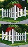 New England Country Corner Picket Fences, 2 Corners
