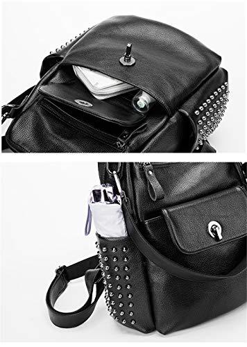 Noir Sac porté Noir Femme Main Noir au pour à JUND Dos 4p8Awpq