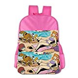 Kids Scooby-Doo, Where Are You! School Backpack Style Boys Girls School Bag Pink