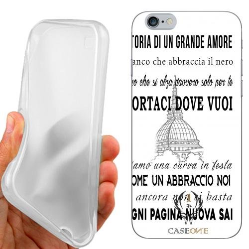 CUSTODIA COVER CASE CORO JUVENTUS PER IPHONE 6 4.7 POLLICI