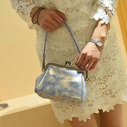 Z&L Verano bandolera mujer tecnología impresiones patrones diagonal vintage cerraduras moda bolsas caliente bolsa , silver