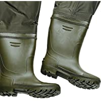 a50314f7e47 FLADEN Fishing Fully Waterproof Pair of HIP THIGH WADERS PVC Rubber Boots -  Ideal for Fishing