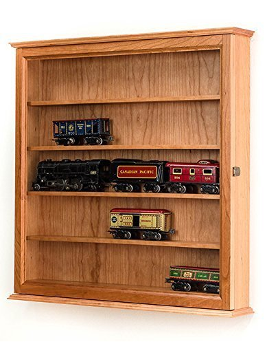 - O Scale Model Train Display Cabinet- Cherry Hardwood *Made in the USA*