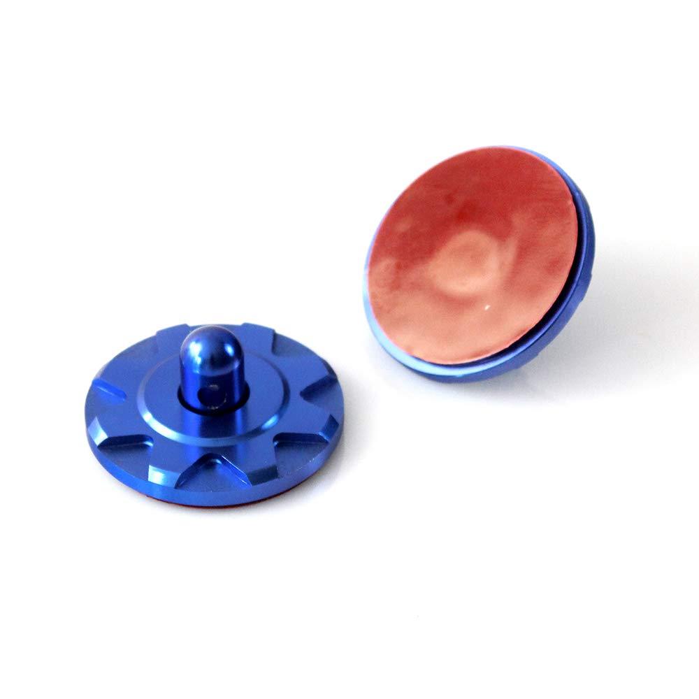 ROWEQPP 2PCS Hood Pin Appearance Kit Universal CNC Billet Aluminum Silver