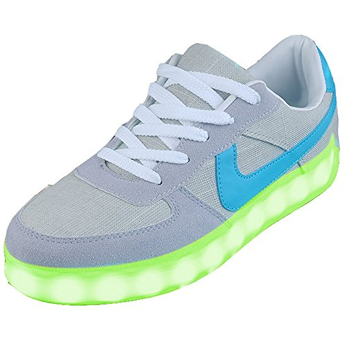 Men's & Women's sneakers, LED flashing lights,most unique gift.(Grey 36/5 B(M) US Women / 4 D(M) US Men) (Eleven Miami Halloween)