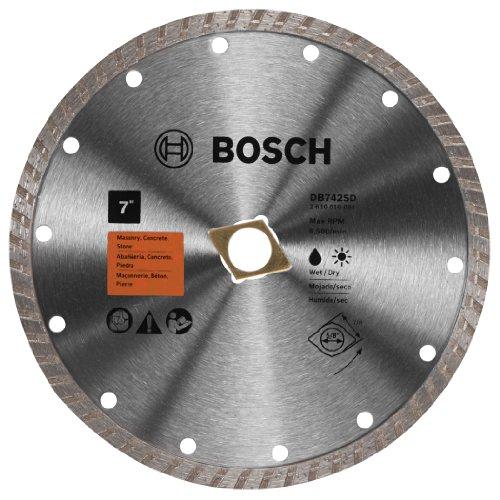 Bosch DB742SD 7-Inch Turbo Rim Diamond Blade (with - Dry Diamond Cut Turbo Standard