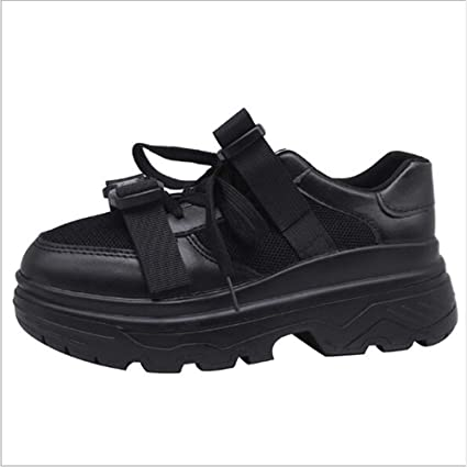 plain black leather trainers womens