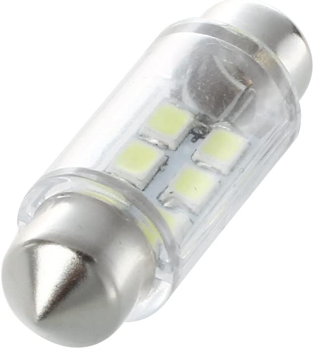 Nrpfell 2pcs Blanc Dome 6 LED SMD voiture Feston Ampoule C5W Lampe 36mm 12V