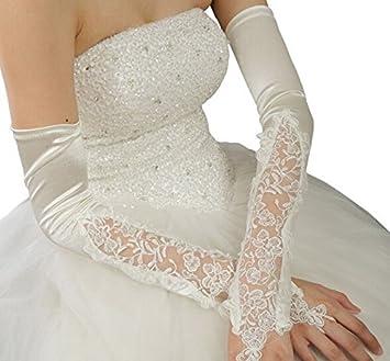 Long Satin Lace Glovettes