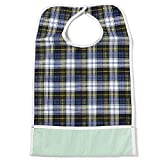 NorthShore ShirtSafe Bib, Tartan Plaid, Pack/3