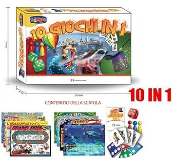 Divertido juego de mesa Juegos del papel de 10 EN 1 TARJETA DE DOMINO ROCOSOS 132044: Amazon.es: Electrónica