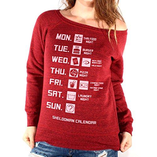 Fashion Scuro Di Mush Felpa Style Sheldon Calendario Your Film By Dress Triblend Rosso Uw5tqtnPr