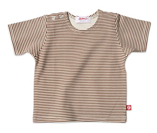 Zutano Chocolate Candy Stripe Short Sleeve T-shirt (18 months)