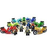 Ninja Motorcycle Tornado Minifigures 6 Pcs/set New Action Building Block Toys
