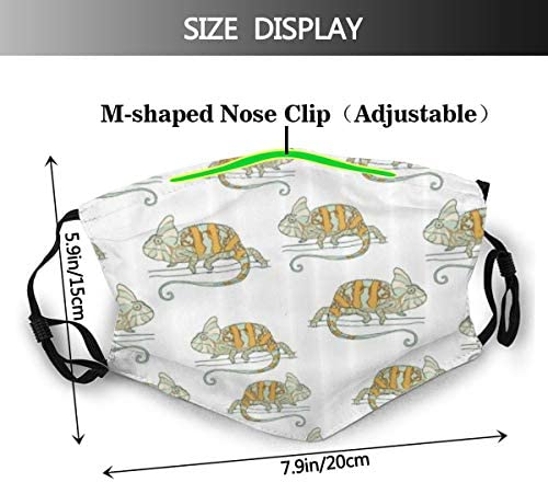 ZORMIEY Face Cover Pandab/är im Bambuswalddschungel Orientalische Natur Wildlife Tropic Cartoon Art Wiederverwendbare Anti-Staub-Mund-Bandanas mit 6 Filtern