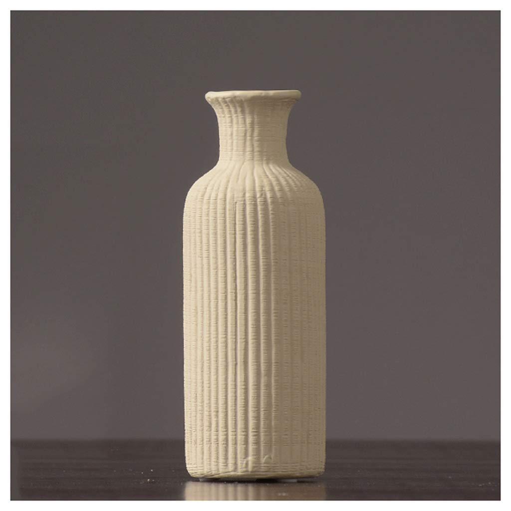 シックな花瓶 花瓶HJBHセラミックテーブルテーブル装飾レトロファッション磁器ボトルリビングルームの装飾小さな花瓶5.5×15.5センチ 写真シックな花瓶シリンダー花瓶、装飾用花瓶 B07S9ZQVDV